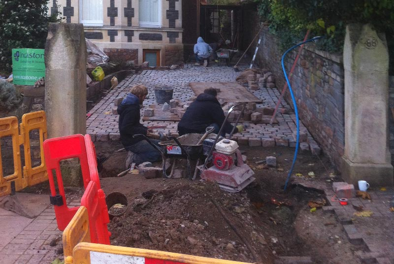 Cobbled Driveway Build, Redland, Bristol