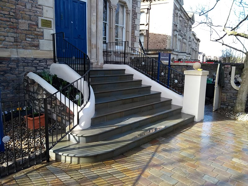 Steps, pathway and stone wall build in Bristol