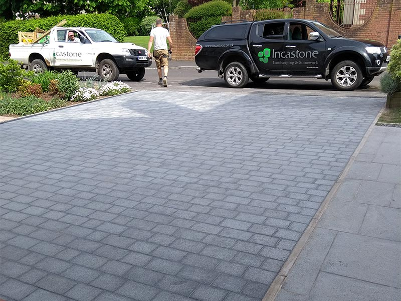 Granite driveway in Stoke Bishop